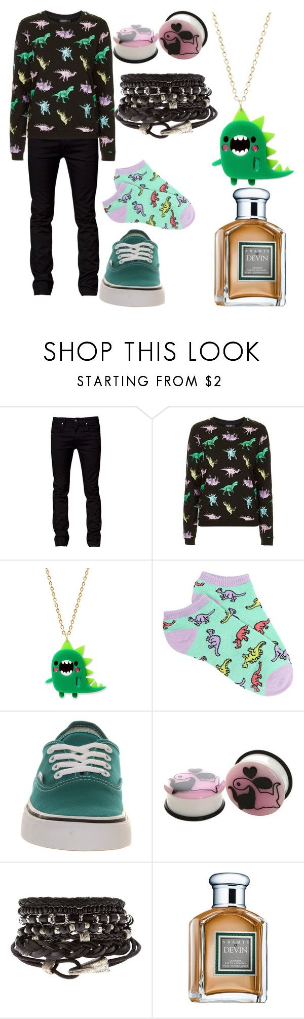 """""""Untitled #616"""" by dino-satan666 ❤ liked on Polyvore featuring Tiger of Sweden, Topshop, Forever 21, Vans and Aramis"""