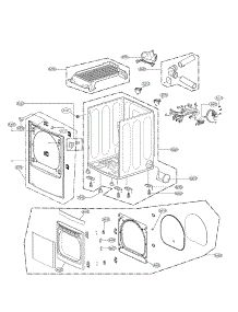 Cabinet and Door Assembly Parts parts for LG Dryer DLEX5170W / from AppliancePartsPros.com