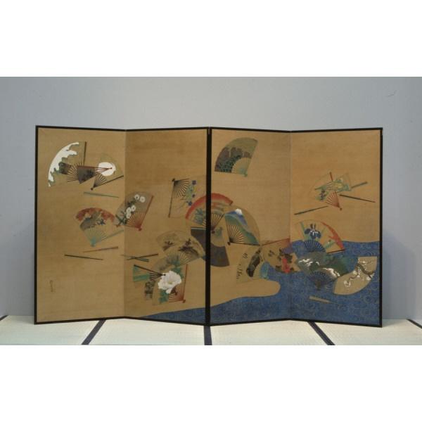 St Louis Museum of Art - Fans and Stream - Sakai Hoitsu