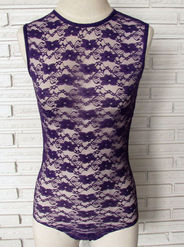 Lace Bodysuit Leotard, Custom Color - product images  of