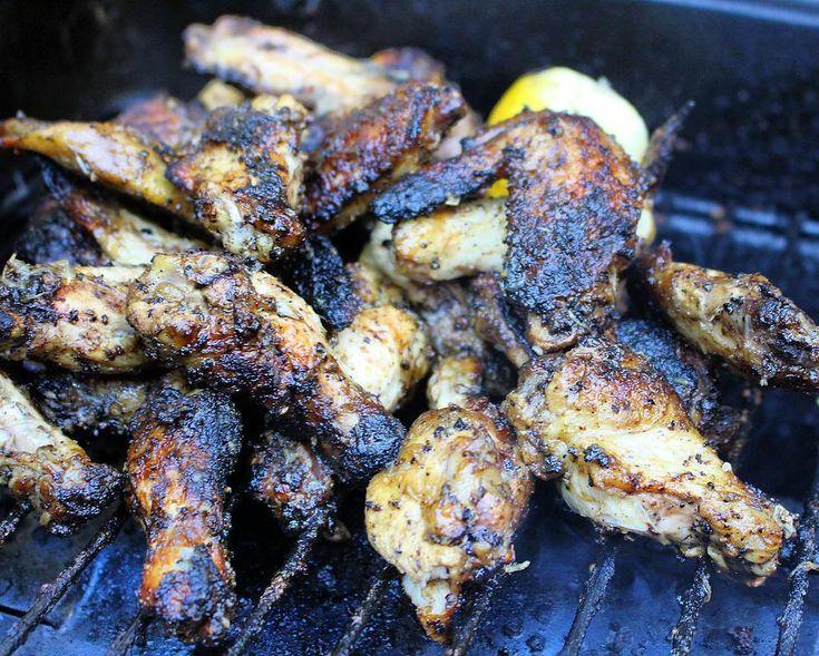 """Jake Smollett: """"Roasted garlic lemon pepper wings. DEY WASNT READY!!! recipe link in bio #wings"""""""
