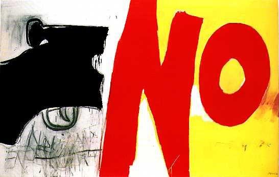 """José Balmes """"NO"""", 1972 (Mixta sobre tela 200 x 300 cms.)"""