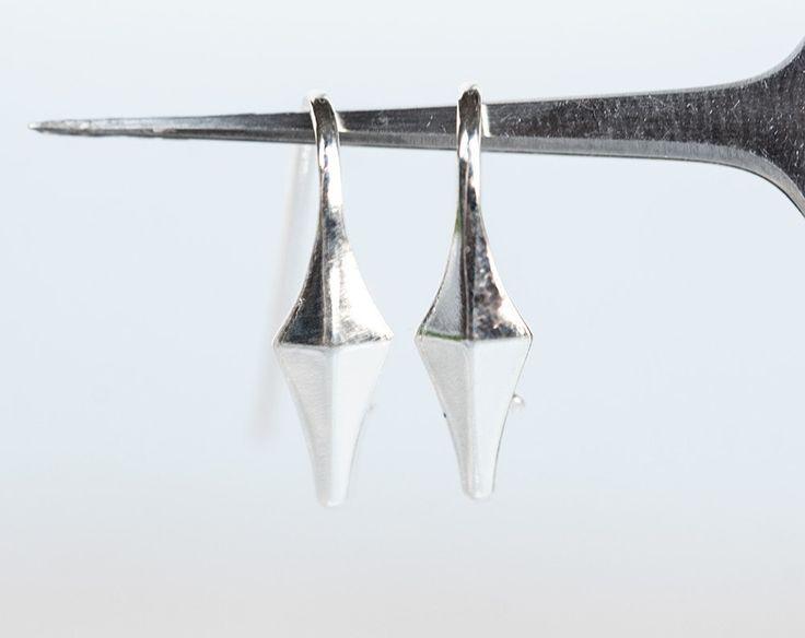 2505_Sterling silver french hooks 24 mm, 925 silver ear hooks, Silver earring hooks, French ear wires, Earwires, Earring findings_1 pair. by PurrrMurrr on Etsy