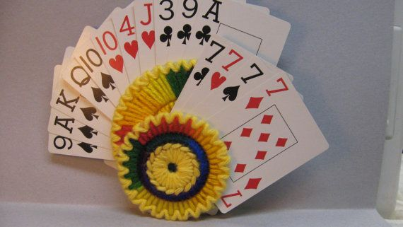 Playing Card Holder for Hand and Foot.