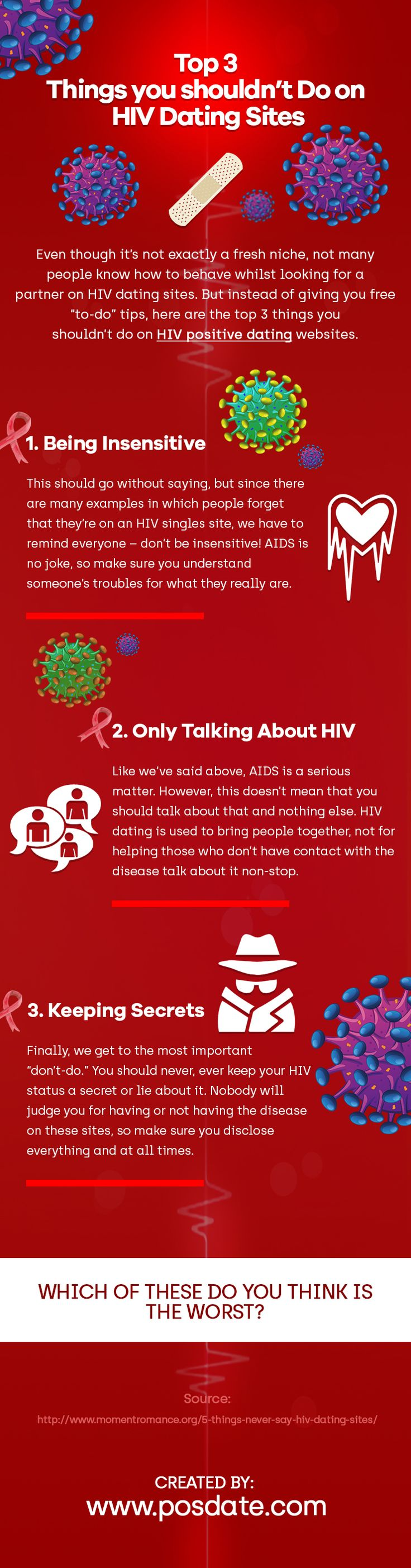 Have you been spending a lot of time on HIV dating sites? Here's what you shouldn't do.