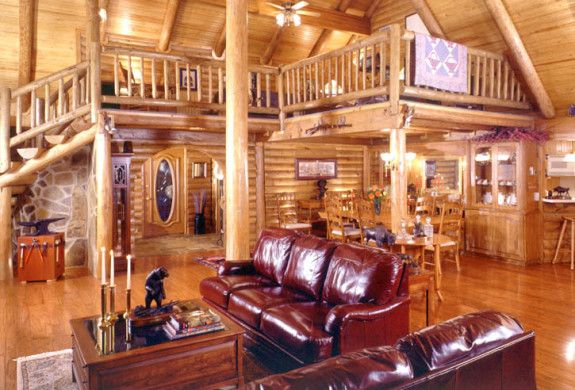 Log Home Interiors Brighten Up A Log Cabin Real Log