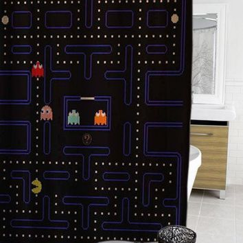 Pacman Retro Vintage Game Shower Curtain