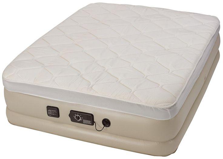 Serta raised air mattress with never flat pump has Never ...