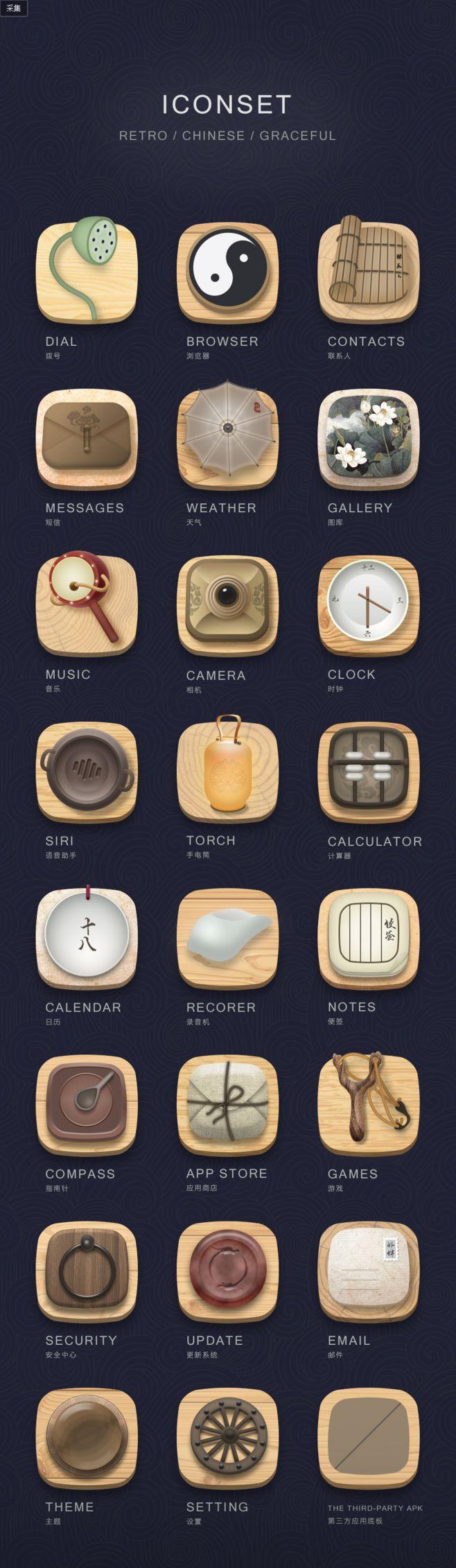 一套新中国风主题图标设计 图标 GUI ...