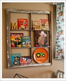 not cowboys and tractors but like the window frame idea