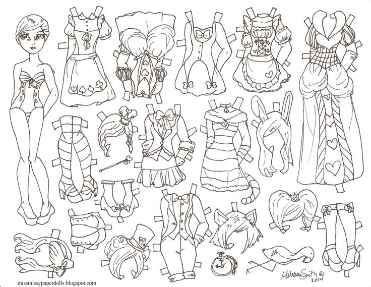 Best Paper Doll Coloring Pages Images On   Vintage