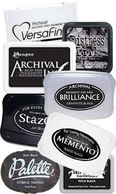 Nice description of black inks, the best and how to use them.