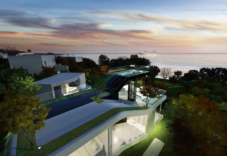 Futuristic Jeju Cocoon House by Planning Korea (9)