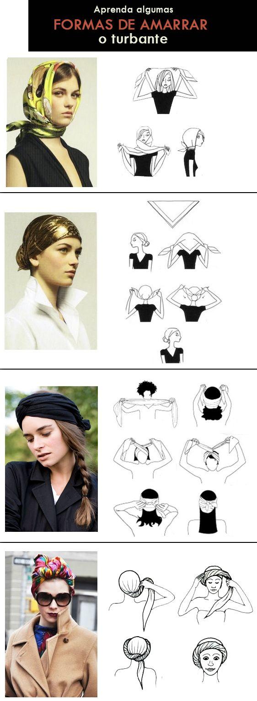 formas de amarrar turbante