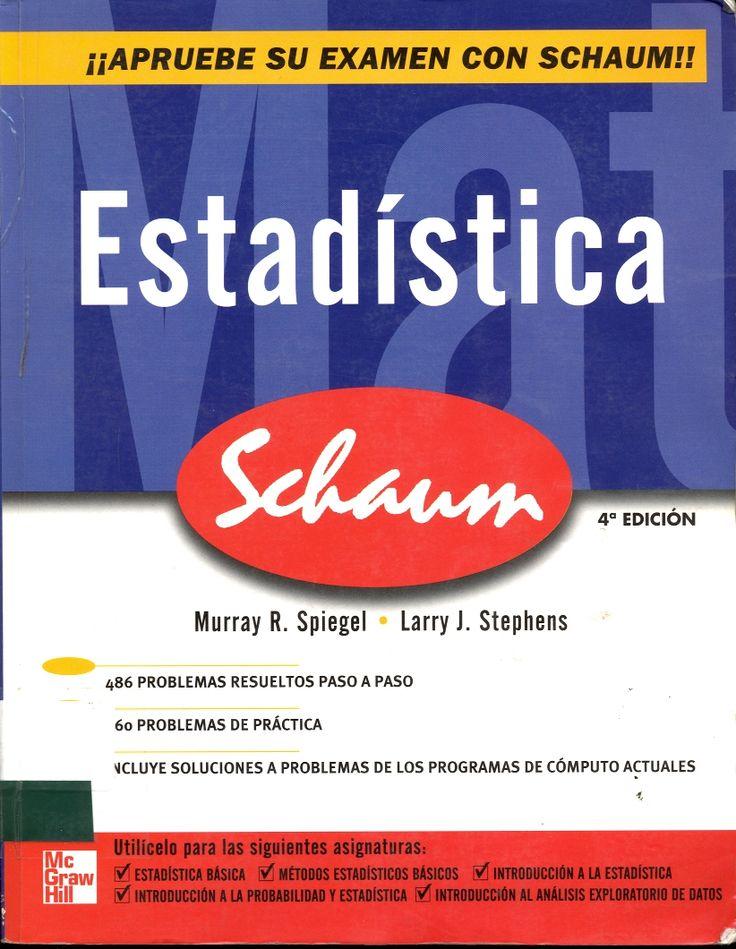 #estadística #murrayspiegel #larrystephens #métodosestadísticos #probabilidades #muestreo #escueladecomerciodesantiago #bibliotecaccs