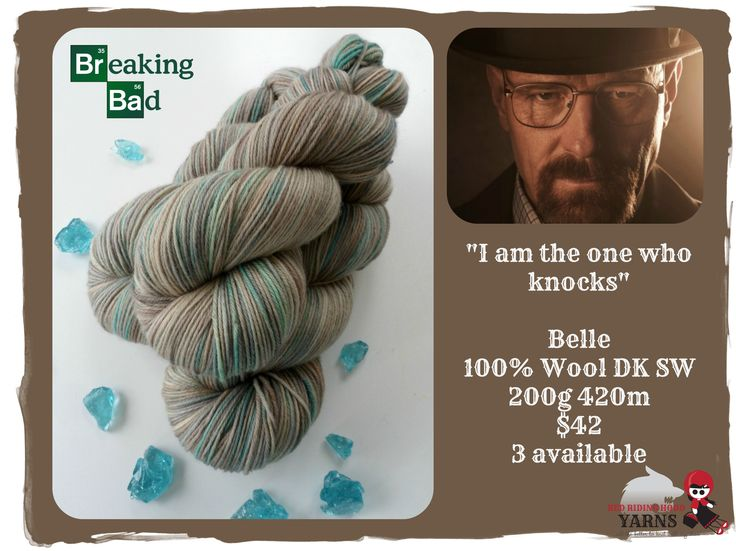 I am the one who knocks - Breaking Bad / Red Riding Hood Yarns
