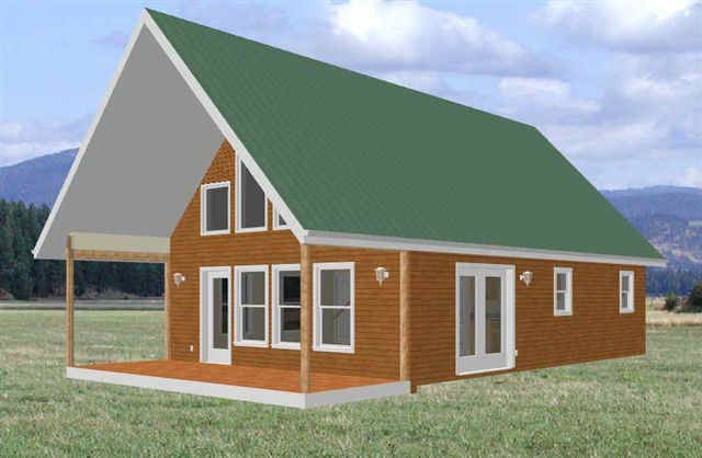 Simple cabin plans with loft cabin floor plans for Simple cabin plans with loft