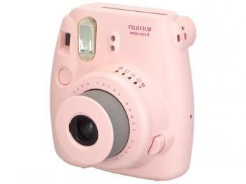 Câmera Instantânea Fujifilm Instax Mini 8 Rosa - Flash Automático Foco Regulável