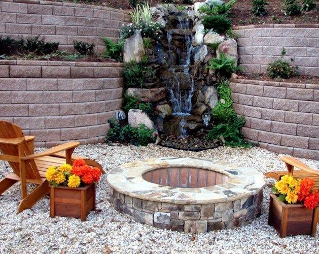 13 besten Wasserfall - Gestaltung Bilder auf Pinterest - garten steinmauer wasserfall