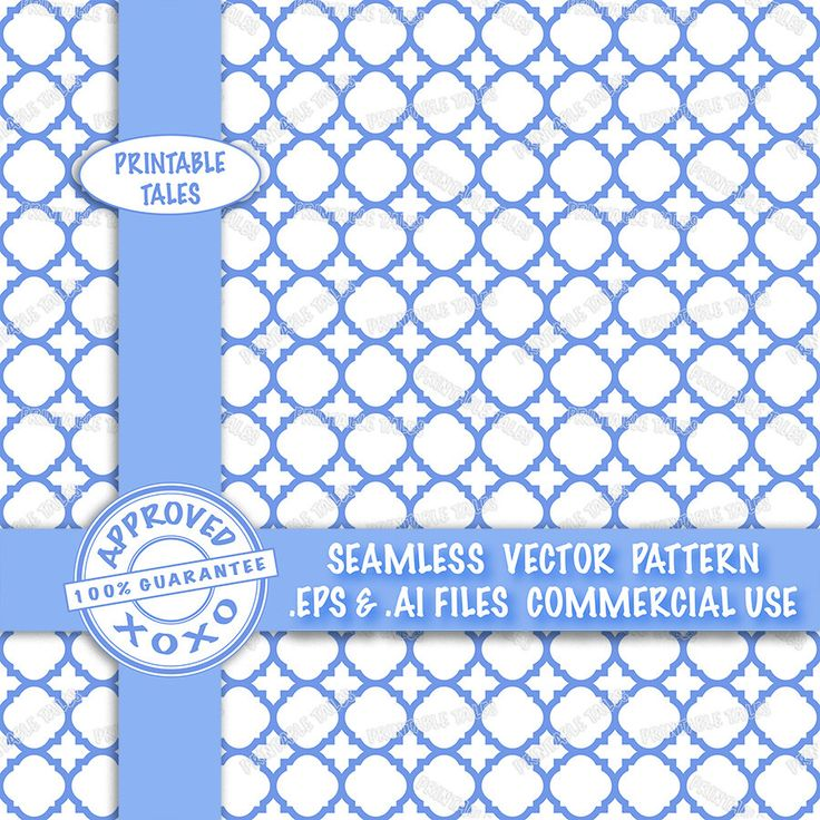 Vector Pattern, Quatrefoil Pattern, EPS pattern, Ai file, Editable file, Royalty free, Unlimited Commercial Use, Seamless,  CS5 and above door PrintableTales op Etsy https://www.etsy.com/nl/listing/267830931/vector-pattern-quatrefoil-pattern-eps