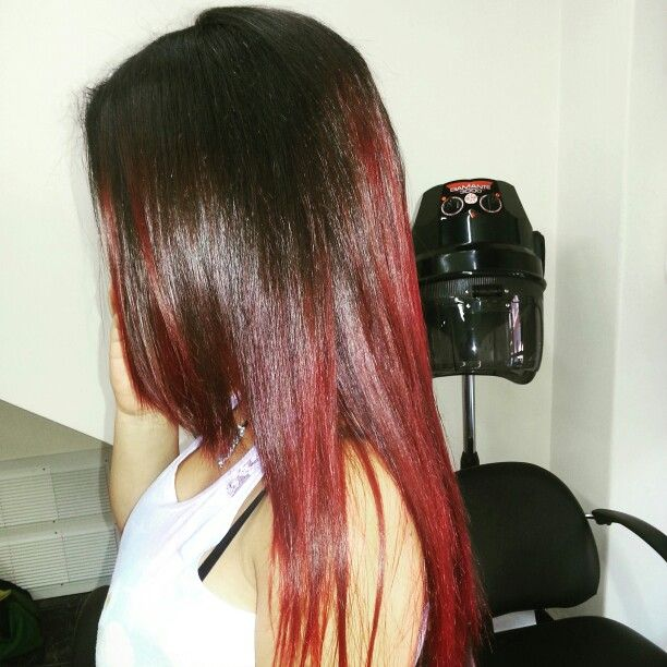 Shatush capelli rossi Red Hair lunghi