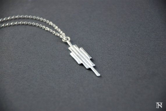 Modern artisan silver pendant Layering jewelry unique jewelry Christmas gift
