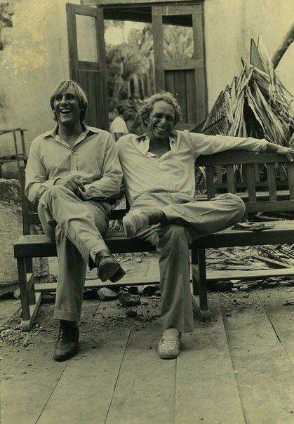 Жерар Депардье и Пьер Ришар, 1970-е.