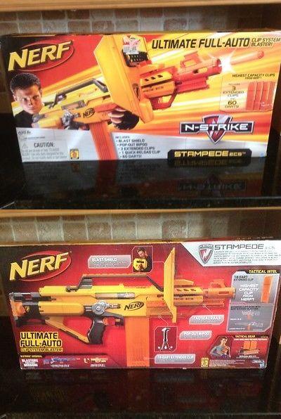Dart Guns and Soft Darts 158749: Nerf N-Strike Stampede Ecs ~ Motorized Dart Gun W Bipod, Shield And 3 Ammo Clips -> BUY IT NOW ONLY: $114.95 on eBay!