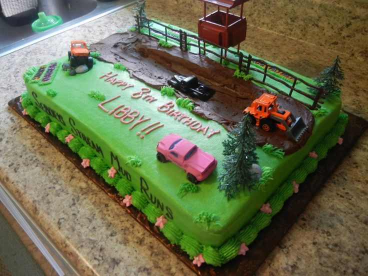Mud Bog Truck Birthday Cake