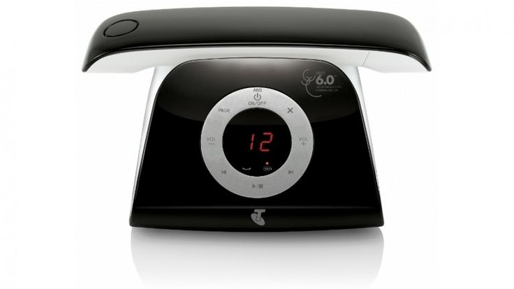 Telstra 13150 Retro Cordless Phone - Black