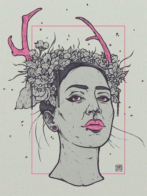 illustration - based on a photo of adora psycoholic by christian...