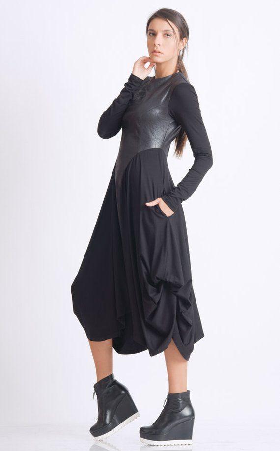 29++ Asymmetrical dress long sleeve info