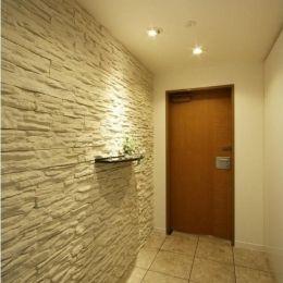統一感のある家の部屋 玄関