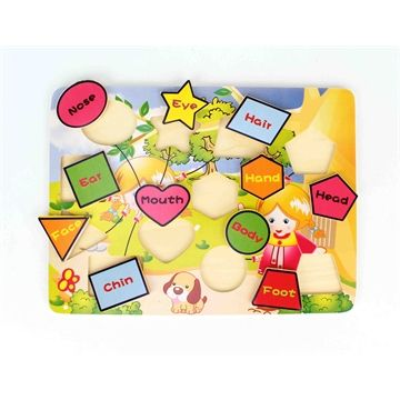 Educational Wooden Shape and Body Puzzle