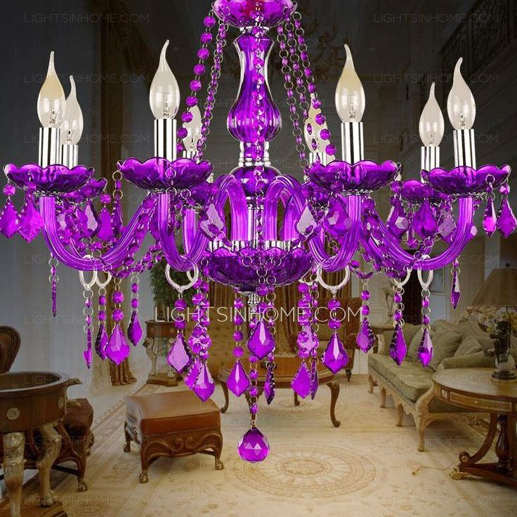 1000 Ideas About Purple Chandelier On Pinterest Pink