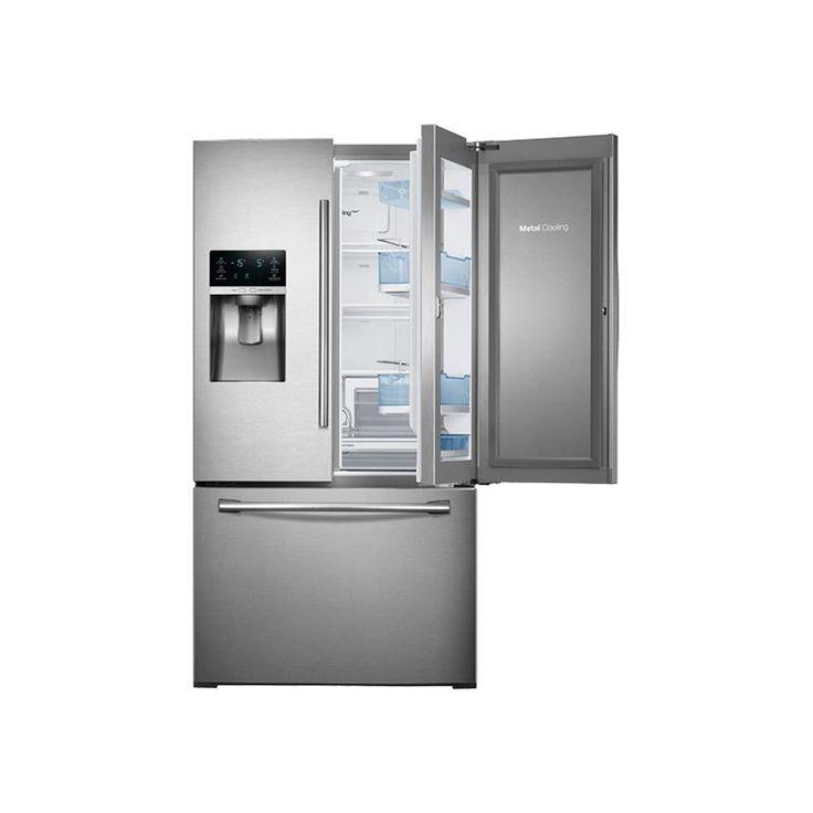 Samsung RF28HDEDBSR 36 Inch Wide 28 Cu. Ft. French Door Refrigerator with Food S Stainless Steel Refrigerators French Door Fridge