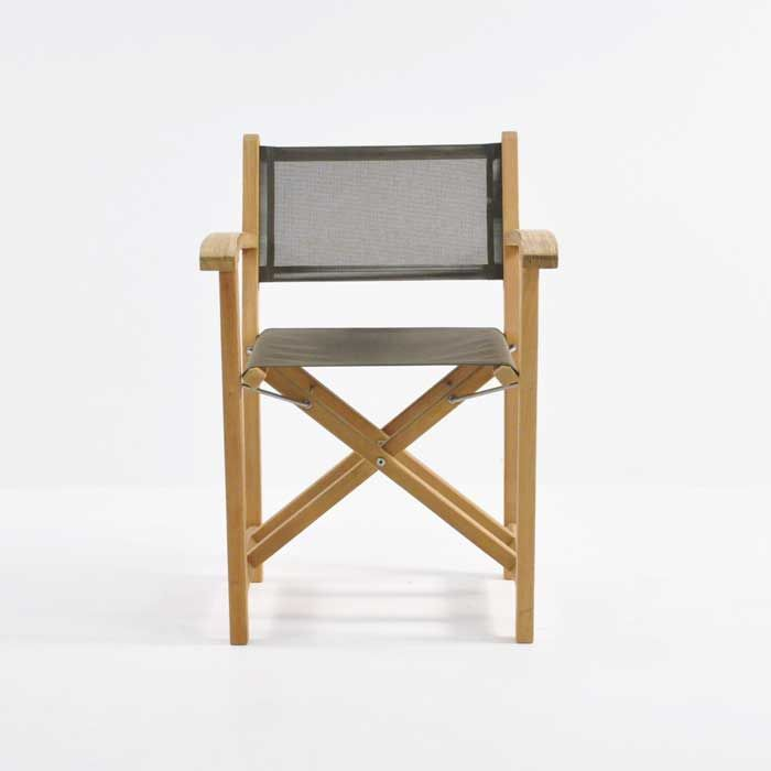 Cannes Directors Chair Taupe Angle With Images Chair Directors Chair Outdoor Chairs