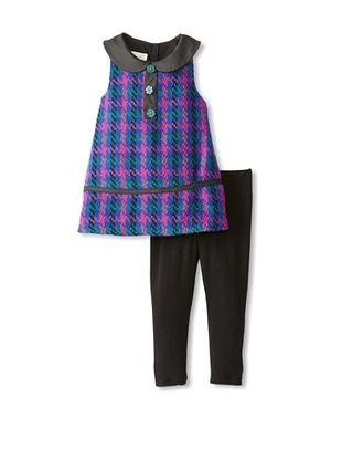 69% OFF Pippa & Julie Girl's A-Line Plaid Dress Set (Multi)
