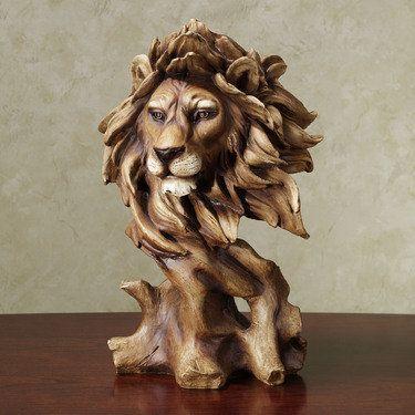 Lion Bust Sculpture