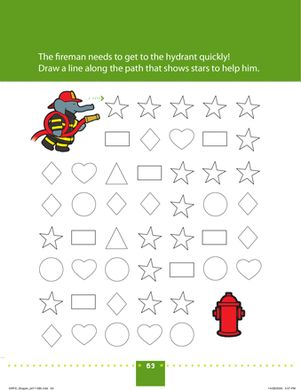 Preschool Shapes Worksheets: Shape Recognition: Connect the Stars!