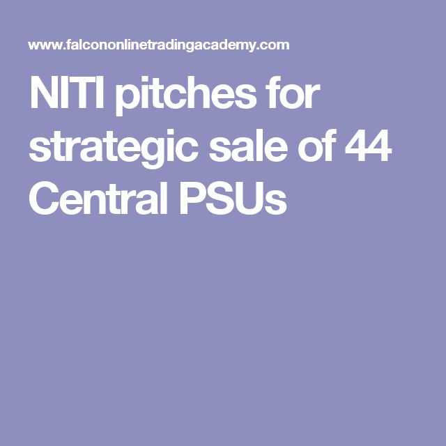 NITI pitches for strategic sale of 44 Central PSUs