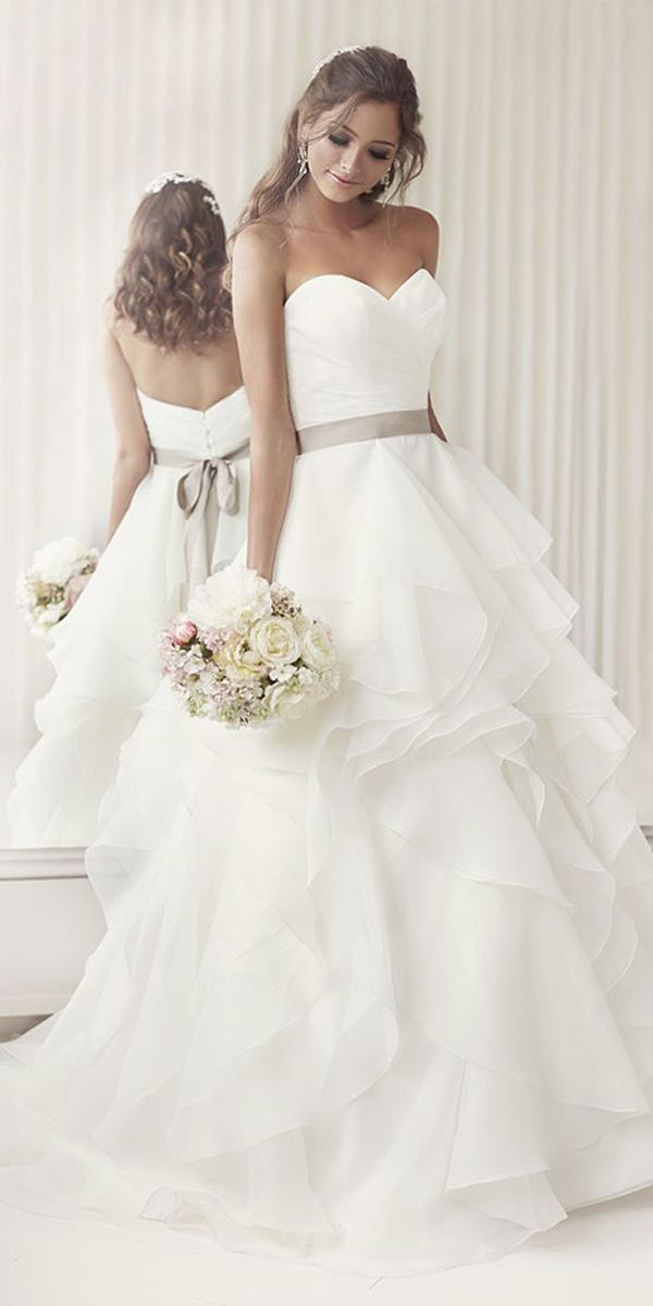 18 Strapless Sweetheart Neckline Wedding Dresses From TOP Designers ❤ We offer you look at a classic, sophisticated look of the strapless sweetheart neckline wedding dresses. See more: http://www.weddingforward.com/strapless-sweetheart-neckline-wedding-dresses/ #wedding #dresses