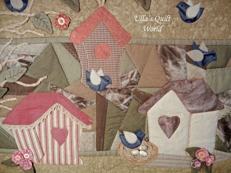 Ulla's Quilt World: Wall hanging quilt Houses