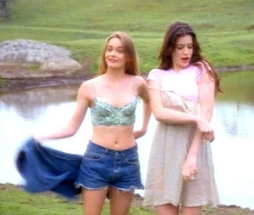 """Remember this? Aerosmith's video """"Crazy"""" with Alicia Silverstone and Liv Tyler."""