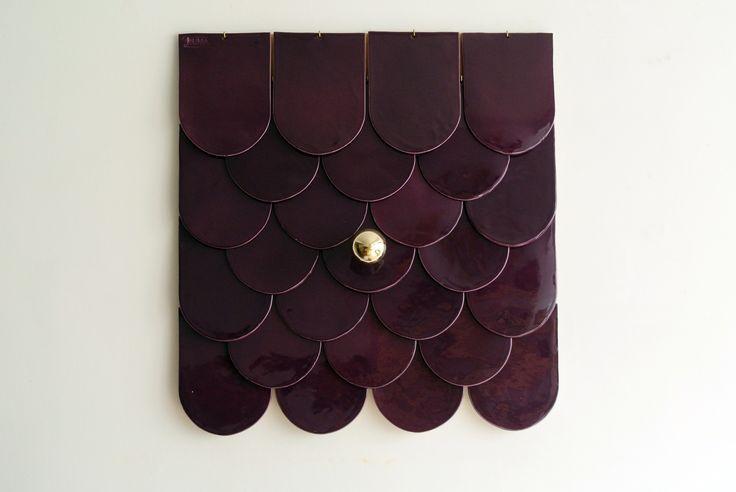 """Scale Lamp """"Eggplant"""""""