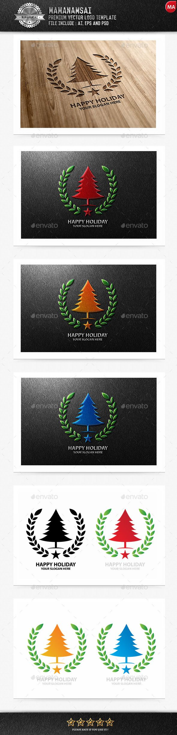 Happy Holiday Logo — Photoshop PSD #xmas #natal • Available here → https://graphicriver.net/item/happy-holiday-logo/9643459?ref=pxcr