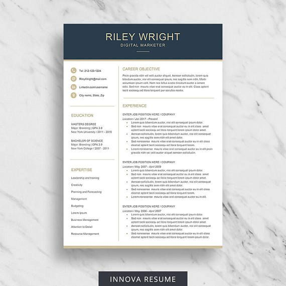 25 best Resume Templates images on Pinterest Cv resume template - clean resume template