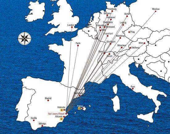 Beste Flugverbindungen zur sonnenverwöhnten Costa Blanca