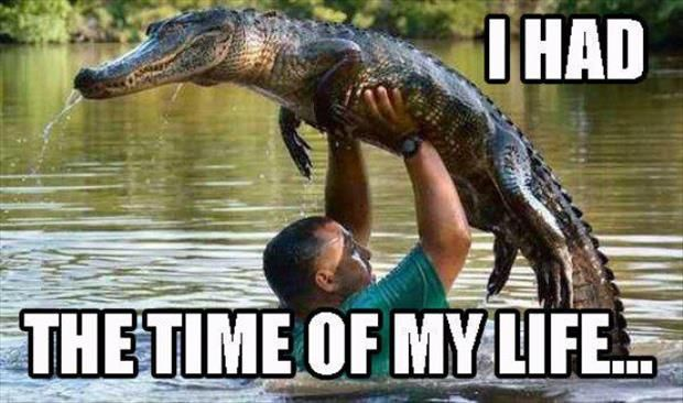 I had the time of my life...   Dirty Dancing lift with alligator.   Pet goals!