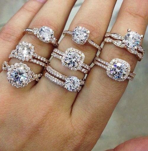 different engagement rings...